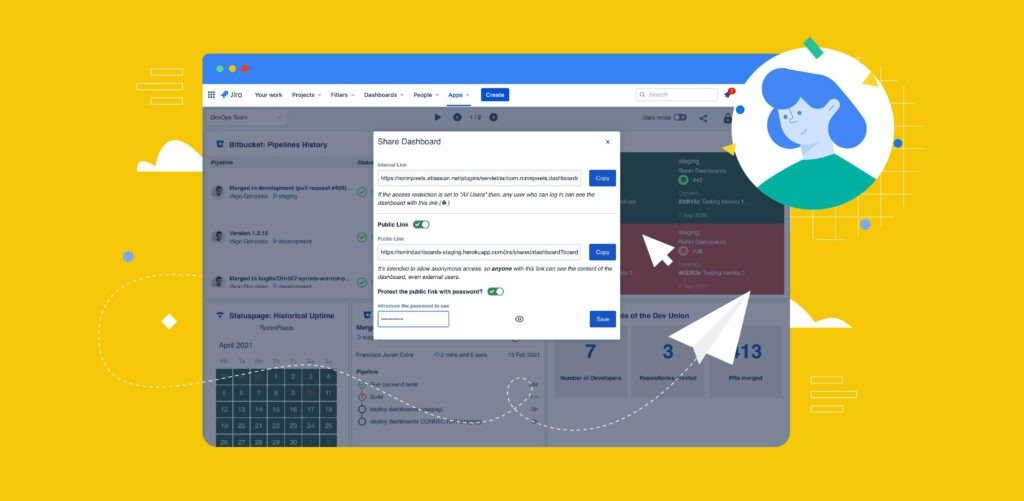 external share jira dashboard