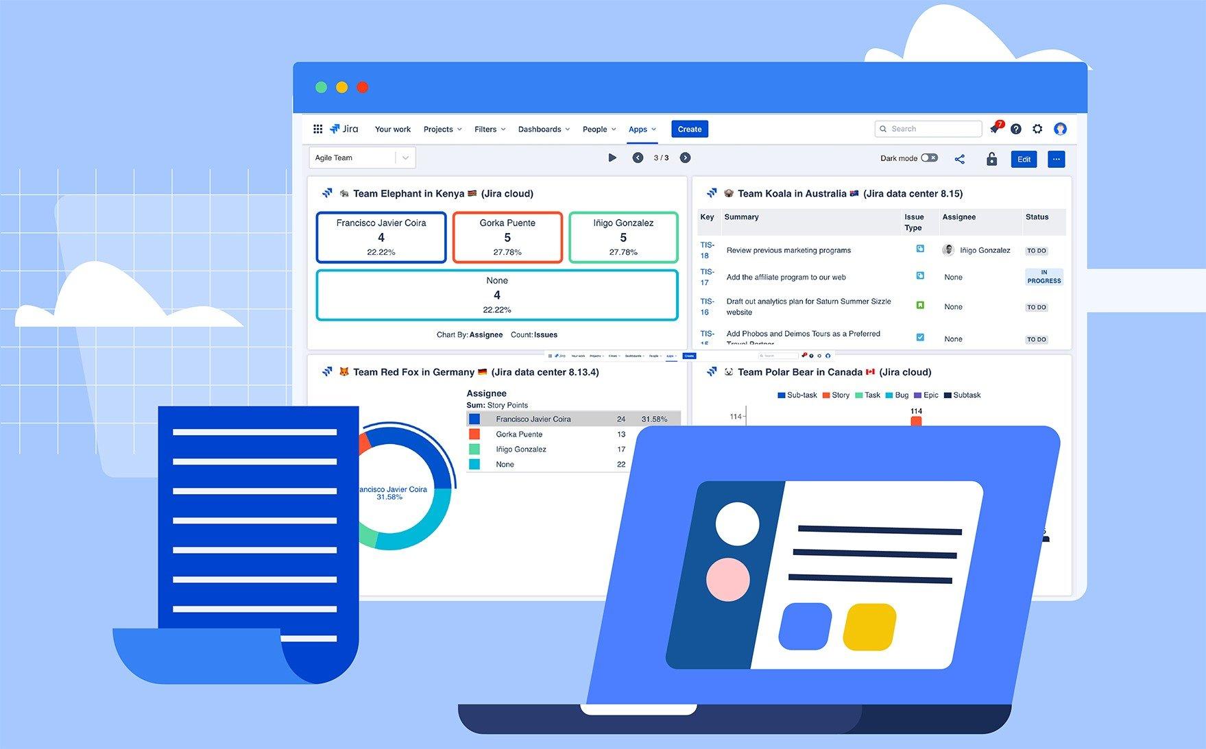 Dashboard Hub for JIRA screen